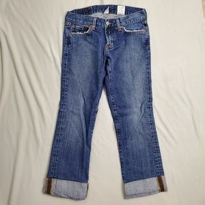 Lucky Brand Cropped Cuffed Jeans
